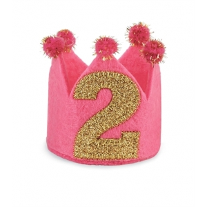 I'm 2 Birthday Crown Headband Mud Pie