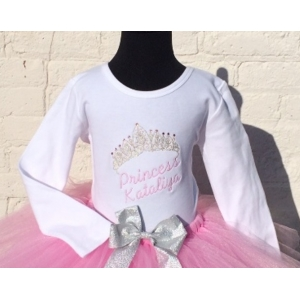 Princess Personalized Crystal Tiara Shirt