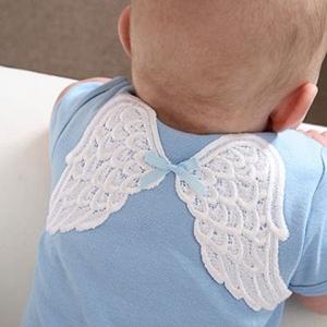 Heaven Sent Angel Wings Blue Onesie
