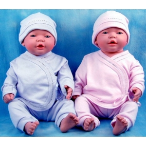 "Pink or Blue 3 Pc Layette Set ""Personalize Me"""