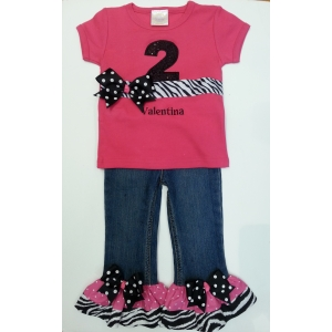 Denim Diva Personalized PantZebra Set