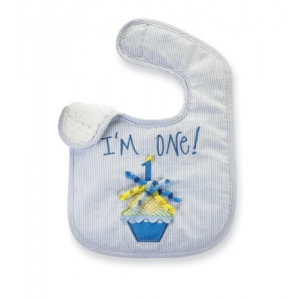 Customized Applique Bib with Cupcake DESIGN and I'm One PHRASE