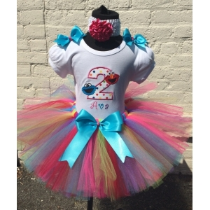 Elmo & Cookie Birthday Personalized Tutu Set Age 1 2 3 4 5
