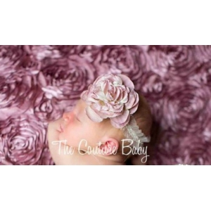 Couture Mauve & Ivory Rose Headband