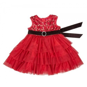 "Red ""Tis The Season"" Infant Toddler Holiday Dress"