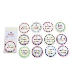 Boy Milestone Stickers Mud Pie