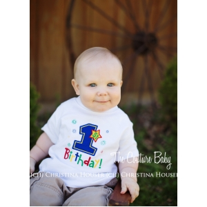 Boys 1st Birthday Personalized Colorful Shirt Or Onesie