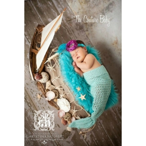 Mermaid Crochet Tail Photo Prop
