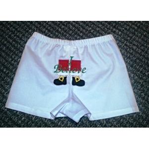 Boys Christmas Santa Boxers Diaper Cover