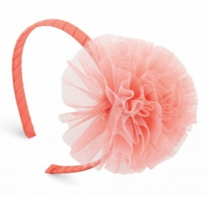 Coral Mesh Puff Hard Headband