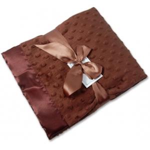 Chocolate Minky Personalized Blanket
