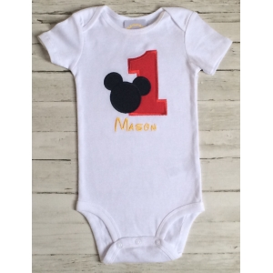 Mickey 1st Birthday Personalized Onesie or Shirt