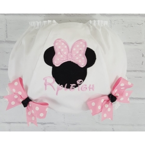 Minnie Pink or Red Personalized Diaper Cover Bloomers
