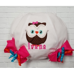 She's a Hoot Owl Personalized Birthday Diaper Cover