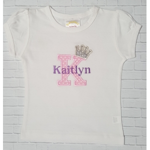Sparkle Princess Personalized Initial Shirt