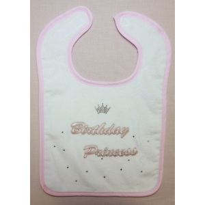 Birthday Princess Crystal Bib