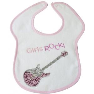 Girls Rock Crystal Bib