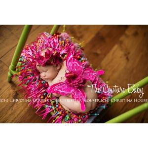 Fuchsia Hydrangea Hot Pink Glitter Butterfly Wings & Headband Set Photo Prop Angel Wings