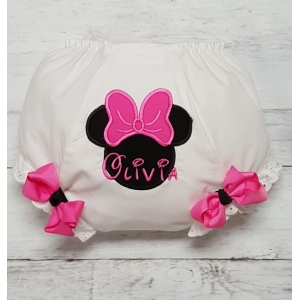 Minnie Hot Pink Bow Personalized Diaper Cover Bloomers