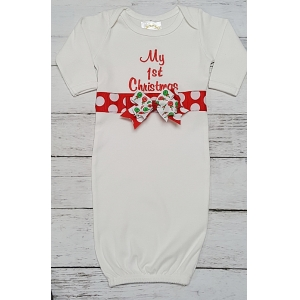 My First Christmas Layette Gown