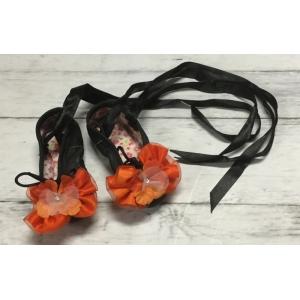Black Leather Ballet Slippers