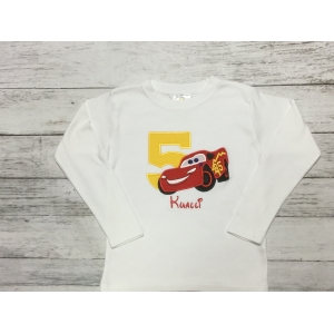 Lightening McQueen Cars Birthday Boy Personalized Shirt