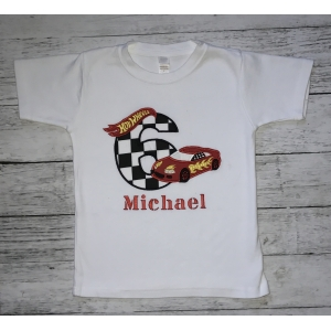 Hot Wheels Birthday Boy Personalized Shirt