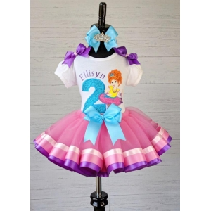 Fancy Nancy Birthday Colorful Ribbon Tutu 3 Piece Set