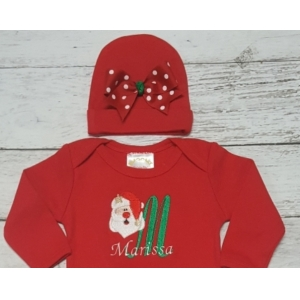 Santa Baby Layette Gown