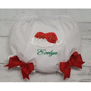 Santa Hat Personalized Diaper Cover