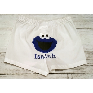 Boy Cookie Monster Boxer Style Diaper Cover