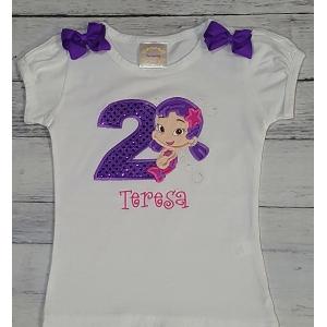 Oona Bubble Guppie Personalized Birthday Shirt
