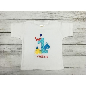 Under The Sea Fish Personalized Birthday Shirt