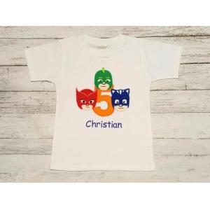 PJ Mask Birthday Colorful Shirt or Onesie