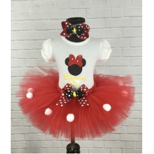 Minnie Mouse Personalized 3 pc Red or Pink Tutu Set