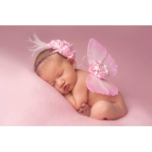 Pink Sequins Baby Butterfly Wings