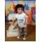 Mod Monkey Personalized Boys Birthday Shirt