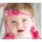 Triple Pink Flower Headband
