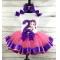 Bubble Guppies Oona Birthday Purple & Hot Pink Ribbon Tutu Pc. Set Age 1-2-3-4-5-6