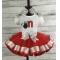 MINNIE MOUSE  ONE 1st Birthday Red & Silver \ Personalized Shirt & Ribbon Polka Dot  Ribbon Tutu 3 Piece Setu 3 Piece Set