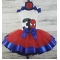 Birthday SPIDERMAN Red & Blue 3 Pc. Personalized Ribbon Tutu Set