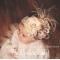 Golden Era Vintage Ivory & Taupe Glitz & Glam Flower & Feather Headband