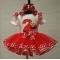 Elmo Red & White Dot Personalized Birthday Ribbon Tutu 3 Piece Set