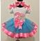 Bubble Guppies Molly Birthday Turquoise & Hot Pink Ribbon Tutu 3 Pc. Set