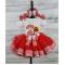 Farm Theme Custom Red & White Gingham Personalized Ribbon Tutu 3 Pc Set  Age 1 2 3 4 5 6 7